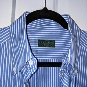 Hugo Boss Golf Dress Shirt sz 41 (L) EUC